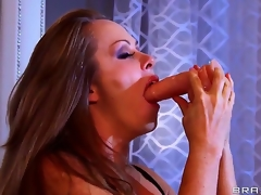 Dyanna Lauren is a spectacular milf and she is showing Keiran Lee what she can accomplish nearly a line of toys that she deepthroats without gagging or shedding a single tear. What a slut!