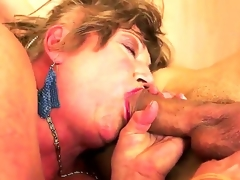 Margitta is my friends granny who has hairy pussy and deep throat. I taste her clit and be suited to we have awesome sex where I drill her wet crack with my burning dick!