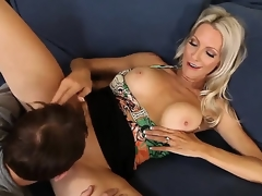 Emma Starr seduces ally of her son Joey Brass nearly have banging! The dude couldnt resist temptation nearly fuck this lady! They have oral and progress with vaginal sex.