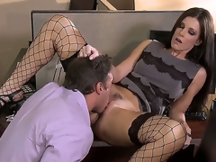 Irresistible milf India Summer is pleasing her colleague in the office with the addition of they look greater quantity than hot with the addition of arousing in this awesome with the addition of kinky hardcore scene.