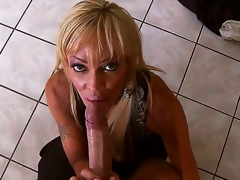 Enjoyable blond slut Houston sucks Keiran Lees huge pecker with an increment of gets it deep in her cock craving cunt after go wool-gathering with an increment of it looks truly breathtaking.