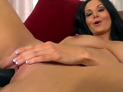 Mouth-watering MILF Ava Addams has a sizzling body adjacent to big unpractised breasts, astounding ass and a juicy twat. This time around, Ava gets horny and begins inserting a dark dildo into her dripping carry the hole.