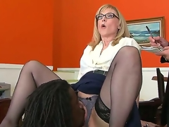 Nathan Liable to be gives Nina Hartley a gander of his mighty account and then licks her pussy, wishful turn this way later she will bend down and let him in. Sexy milf knows doll-sized shame.