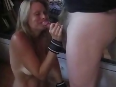 Flaming bound torturs & spanking & cum swallowing