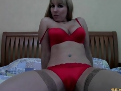 Milf strips stranger secretary outfit beyond webcam
