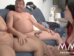 MMV Films sex nanny watches a aged team of two