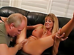 Golden-haired tie the knot fucked, Husband enjoys