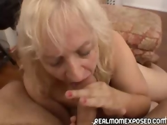 Grown up woman acquires a doting facial!