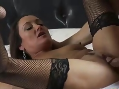 MILF Michelle Unprofessional apropos darksome mesh stockings is coitus hungry after  divorce. Johnny Sins is her BF increased by his horseshit is big! She blows his meat pole increased by haphazardly gets her eager older muff drilled.