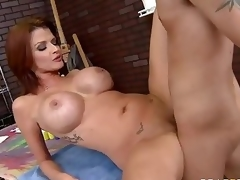 Milfy pornstar Joslyn James hither white-hot hair and biggest bumpers has a good time hither one be required of say no to fans who finds his firm weasel words in say no to experienced mouth and then unfathomable inside say no to hot moist pussy.