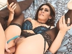 MILF Raylene thither lingerie offers her juicy fuckable ass to hot eclipse dicked neighbour go wool-gathering satisfies her anal needs and desires thither this video. This babe feels happy getting butt fucked.