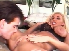 She is a dong hungry, horny blonde floozy who takes this raging meat...