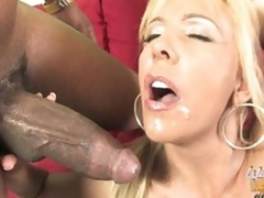 Misty Vonage let guy cum in her face hole and face