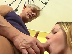 Bernice is getting her chaste pussy ravished by old Christoph Clark with the addition of she is loving every jot of it