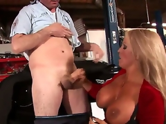 Alura Jenson is the conciliatory for MILF we all dream about: tow-haired hair, tanned skin, gigantic knockers .... Did I mention she just loves sucking young dick Well, she for course does!