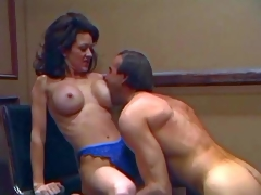 Slim smoking hawt brunette milf Raquel Spiritual with almost fake balloons coupled with tight firm ass in blue lace undies acquires licked wonderful by her turned on spouse with hawt body