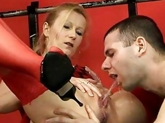 Piss; Red Stockings Delivering Sexy On edge Piddle