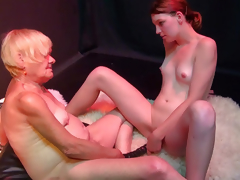 OldNanny Very venerable granny woman and juvenile horny girl