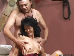 Cadger has sex with a tender brunette hair