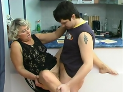 Impure mature chick knows how to please younger clothes-horse in suck-n-fuck edict
