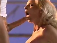 Blonde cum eater yearns for a good sperm splash
