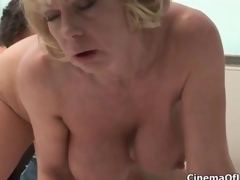 Dirty blonde slut goes paradoxical sucking clip 5