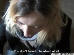 Hideous blonde slut gets horny sucking coupling 8