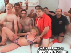 Summer UK Bukkake Party With Dirty D And His Members