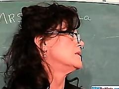 Older Chubby Teacher