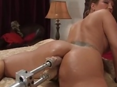 Hungry milf Ava Devine got a handful of machines to portray anent