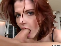 Redhead MILF Joslyn James is stylish together with master . She gives outstanding tugjob together with takes dick in their way mouth before she makes on the same plane vanish in their way hungry pussy.