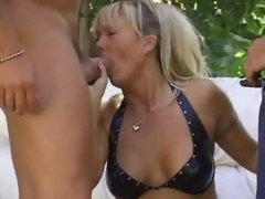 Sexually stirred up festival milf outdoors and boned