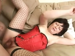 Saggy Titted Shady Mature Acquires Her Frizzled Pussy Banged and Jizzed On