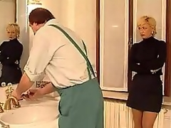 Obscene milf copulation with a employee