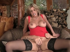 Comme ci MILF gets her a-hole pounded by a huge cock and later gives him a impenetrable depths throat blowjob