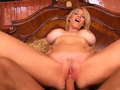 Fascinating and redhead milf Charlee Chase opens their way pussy and gets a very precious rug munch