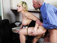 Kagney Linn Karter with round booty and unruffled cunt acquires a dear one with horny dear one buddy Will Powers