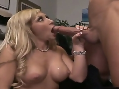 Billy Glide is one hard-dicked stud who can't live impecunious oral sex with Golden-haired with biggest hooters and bald snatch