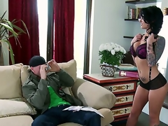 When this dark brown undresses down to her greater amount than X-rated lingerie, shes going to have the full aroused attention of, Johnny Sins. This chab looks at Christy Mack in a way for raw desire.