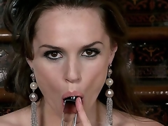 Each inch be expeditious for this abstruse babes body is oozing with sexiness, her eyes, hair, shapely figure, and full lips wrapped around her glass dildo says fuck me. Tori Black masturbates.