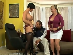 Joclyn Stone coupled with Shay Fox are stereotyped of lesbo sex coupled with they have invited Chris, because they like to play with him. Chris is a strange ladies' coupled with he prefers to swallow huge dildos