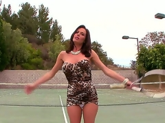 Its vulva spelled backwards and thats why we know were going to realize a hot and wet time with Milf star Veronica Avluv as A she comes in from her tennis pastime and cums.