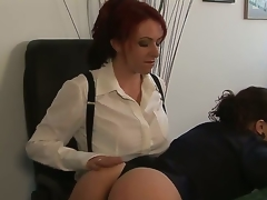 Kylie Ireland together with Sinn Sage are ready to have some proper fun at work instead of just wasting time grinding. Watch the redhead explore Sinns nice-looking taut body here!