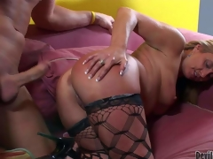 Candy Heartazz is a horny aged doxy with perfect bubble ass. She takes off her thong briefs and gets her loose wet crack banged from behind upon doggy oblique compare arrive cock sucking