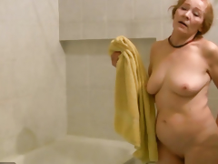 OldNanny Old skinny woman masturbating and sucking 10-Pounder
