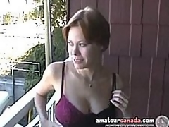 Busty milf Canadian Cassie fulgid fixture out of the closet