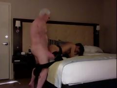 White Haired Grandpa Hotelroom Sex