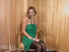 Of age Blonde In Minidress Bends Over