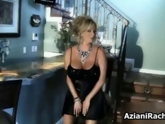 Grotesque milf tow-headed laid on a couch