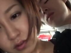 Hawt asian milf nailed everlasting in a trainer